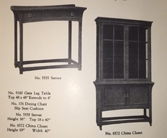 1918 Catalogue image China cabinet.